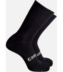 cariloha men's anti-odor cushion crew socks viscose from bamboo