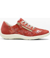 sneaker in pelle comode larghezza h (rosso) - bpc selection