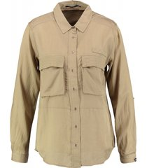 10 feet bronskleurige blouse viscose katoen