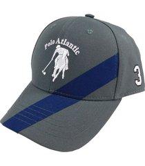 gorra cruzada gris/azul