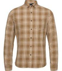 clive yarn dyed checked shirt skjorta casual brun lexington clothing