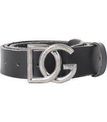 dolce & gabbana black vintage belt