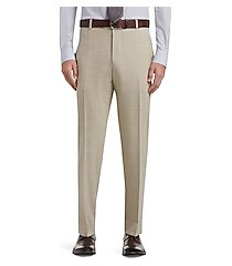 1905 collection tailored fit flat front dress pants - big & tall clearance by jos. a. bank