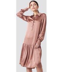 na-kd party button detail shirt dress - pink