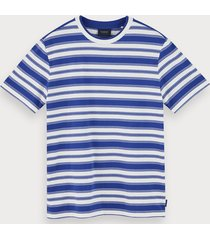 scotch & soda 100% cotton striped short sleeve t-shirt