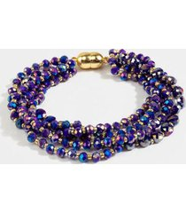 arabella beaded layered bracelet - cobalt