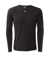 camiseta manga longa kanxa térmica / segunda pele preta