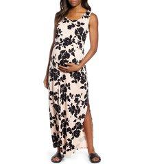 women's angel maternity busy mama maternity/nursing maxi dress, size xx-large - pink