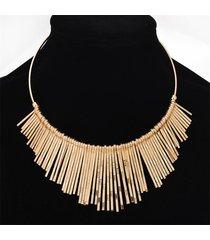 collana con girocollo in argento placcato oro lega clavate nappe collana di gioielli di moda per le donne