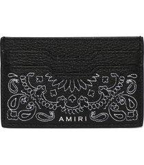 leather bandana card holder black