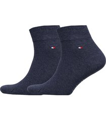 th men quarter 2p underwear socks regular socks blå tommy hilfiger