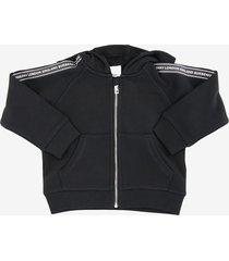 burberry corwin zip hoodie with logotaping