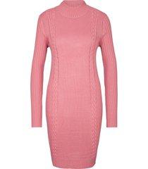 abito in maglia a collo alto (rosa) - bpc bonprix collection