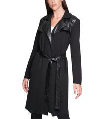 calvin klein sweater trench coat