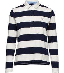 original barstripe heavy rugger ls t-shirts & tops polos blauw gant
