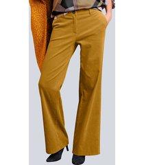 broek alba moda geel