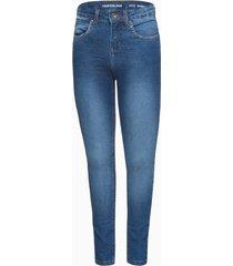 calça jeans jegging high five pockets - azul médio - 2