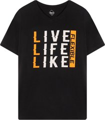 camiseta m/ con screen life colornegro, talla m