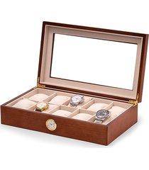 bey-berk 10-watch all-in-time box - brown