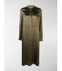 jil sander mid-length shirt dress