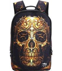 uomini donne modello outdoor skull pattern poliestere multifunzione zaino borsa a spalla