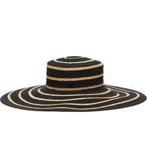 'ursula' mix straw wide brim hat