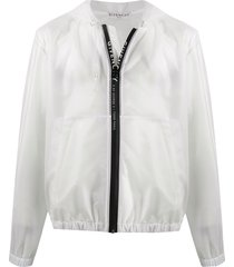 givenchy transparent hooded jacket - white