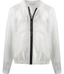 givenchy transparent hooded jacket - white