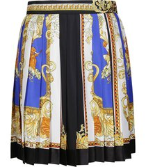 versace multicolor silk skirt