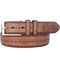 lejon men's chancellor full grain aniline leather dress belt