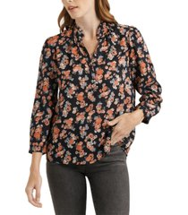 lucky brand megan floral-print popover top