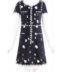 chanel distressed tweed dress
