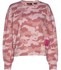 cropped pullover sweat-shirt trui roze calvin klein performance