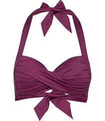twist soft cup halter bikinitop paars seafolly