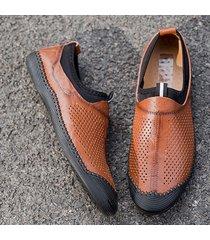 men hole anti-collision stitching slip on scarpe casual
