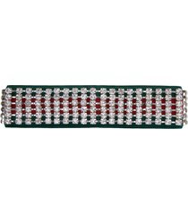 gucci pre-owned crystal headband - green