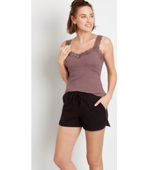 maurices womens black 3.5in french terry shorts