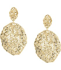aurelie bidermann vintage lace clip-on earrings - metallic