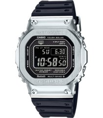 casio men's connected solar metal head black resin strap watch 43.2mm