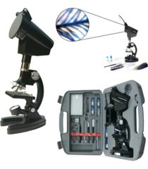 cassini 98 piece 300x - 600x - 1200x microscope kit + projection hood and case