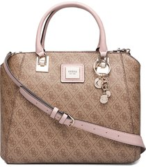 candace elite carryall bags top handle bags beige guess