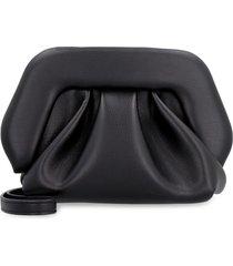 themoirè gea faux leather clutch