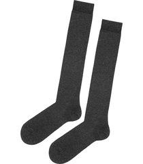 calzedonia - tall stretch cotton socks, 44-45, grey, men
