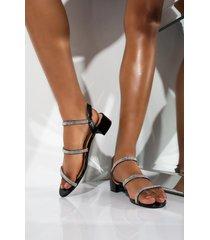 akira cape robbin golden lady rhinestone chunky sandal