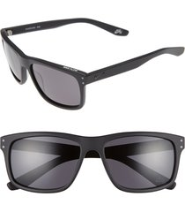 men's nike flow 58mm sunglasses - matte black