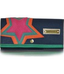 billetera star azul