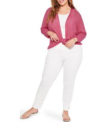 plus size women's nic+zoe 4-way lightweight cardigan, size 3x - pink