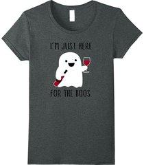 i'm just here for the boos wine shirt, halloween wine shirt women