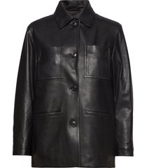 iris leather jacket leren jack leren jas zwart filippa k