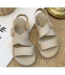 sandalias versátiles para mujer-khaki